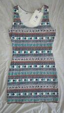 NEW! $98 Chelsea & Violet size M medium womens dress RN 58909 blue white multi