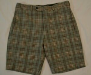 PRADA Stretch Check Shorts Men's Size 48, US 30-31 Multicolor Made in Italy