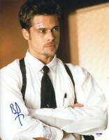 BRAD PITT SIGNED 11X14 PHOTO SEVEN AUTHENTIC AUTOGRAPH PSA COA