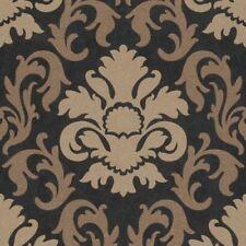 Rollos de papel pintado barrocos color principal negro