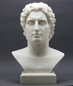 ALEXANDER the GREAT Head Bust Greek Cast Marble Statue Sculpture
