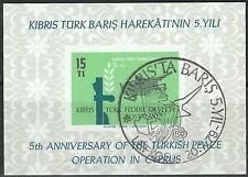 Türkisch Zypern - 5 Jahre Intervention gestempelt 1979 Block 1 Mi. 70