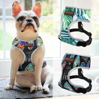 Reflective Dog Harness Breathable Mesh Padded Pet Walking Vest Adjustable Yorkie
