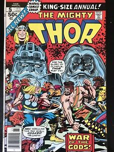 MIGHTY THOR ANNUAL #5 SEP 1976 FN MARVEL Bronze Age COMIC