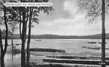 FROM THE OUTLET BEACH LAKE PENNSYLVANIA BOATING DEXTER PRESS POSTCARD (1940s)