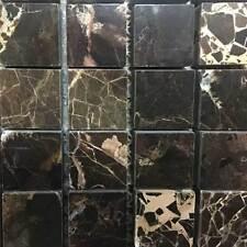 Dark Emperador Polished Mosaic Marble Tile - SAMPLE