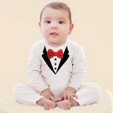 Newborn Baby Kid Boy Infant Outfits Jumpsuit Romper Bodysuit Tuxedo Suit Clothes