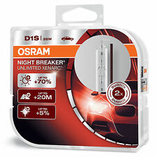 OSRAM Xenarc Night Breaker Unlimited D1S Xenon HID Headlight Bulb (Twin)