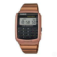 Casio 44mm Ca506c-5a Vintage Calculator Watch - Rose Gold