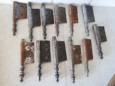 lot de 12 anciennes fiches à larder-en fer forgé-antique iron door hinges-18è