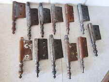 lot de 12 anciennes fiches à larder-en fer forgé-antique iron door hinges-18è