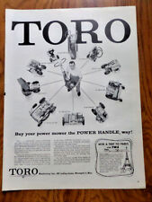1957 Toro Lawnmower Ad  Buy your Power Mower the Power Handle Way