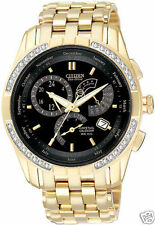 NEW Citizen Eco-Drive Calibre 8700 GoldTone Black 36 Diamonds BL8042-54E Watch