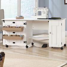 Sewing Machine Craft Table Storage Cabinet Shelf Desk Dresser Drop Leaf Bins New