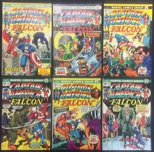 Captain America Comics (Lot of 6) Vintage 1973-74