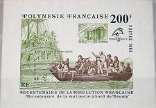 French Polynesia Polinesia 1989 blocco 15 516 Philexfrance Bounty SHIP NAVE **