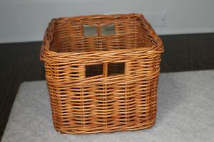 "POTTERY BARN KIDS Sabrina Basket LARGE Honey Brown 12 x 12 x 9.5"" tall"