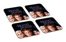Hocus Pocus Black 4 Piece Wooden Coaster Set