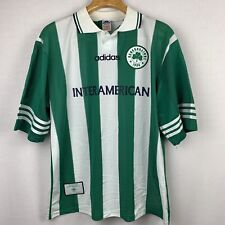 Rare Vintage 90's Adidas Panathinaikos Soccer Jersey Greece Made In England XL