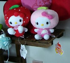 Collectable Gift@Lot 2pcs 16cm Strawberry Sanrio Hello Kittys New With Tags