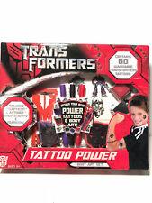 TRANSFORMERS ~ TATTOO POWER ~ TATTOO DESIGN KIT ~ 60 WASHABLE TATTOOS ~ NEW