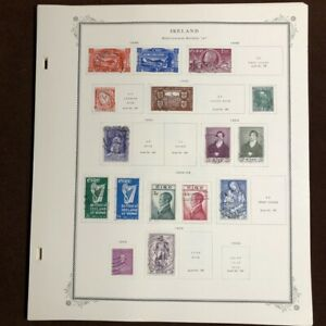 IRELAND 1922-81 CV $400 SCOTT SPECIALTY Album Pages Stamp Collection, COMPLETE