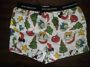 PETER ALEXANDER MICKEY MOUSE CHRISTMAS SLEEPING SHORTS SIZE MEDIUM