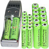 12 AA 3000mAh+ 12 AAA 1800mAh 1.2V NI-MH green Rechargeable Battery +USB Charger