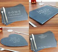 Personalised Slate Place Mats Gifts Ideas For New Home House Warming Weddings