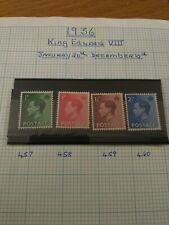 Gb Stamps Edward Viii Mnh X4