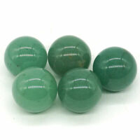 20mm Natural Green Aventurine Crystal Reiki Sphere Healing Ball Home Decor 5Pc