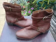 63f4f6586a15 Massimo Dutti Women Brown Leather Ankle Boots Size UK5 EUR 38