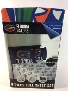 NCAA Florida Gators 4 Piece Full Sheet Set - G27