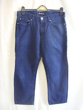 """Jean homme-cerruti jeans, 34""""W, court bleu marine/indigo couleur, légèrement délavé - 1270"""