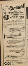 1967 Hawk P-51D Mustang~Thunderbolt~Starf ighter Airplane Toy Model Aircraft Ad