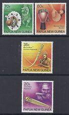 1990 PAPUA NEW GUINEA MUSICAL INSTRUMENTS SET OF 4 FINE MINT MUH/MNH