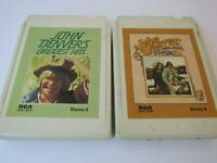 Lot of 2 John Denver 8 Track Tapes Back Home Again and Greatest Hits