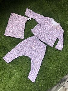 Petit Bateau floral outfit with a matching sack girls 12 months