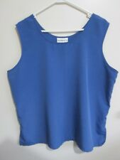 MILLERS  size 20-22 Lovely Light Polyester Blue Shimmer Cami TOP    Brand New **