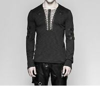 Punk Rave Men's Gothic Steampunk Rock Longsleeve T-shirt