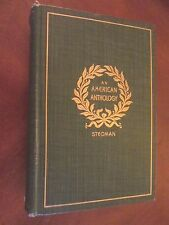 AN AMERICAN ANTHOLOGY 1787-1900 Stedman  AMERICAN & Women POETS Whitman Lowell