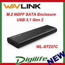 Wavlink M.2 SSD NGFF Enclosure SATA USB-C Gen 2 WL-ST237C Type-C