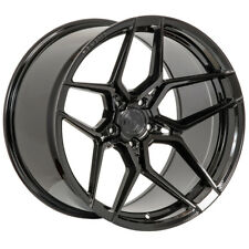 "20"" ROHANA RFX11 BLACK FORGED CONCAVE WHEELS RIMS FITS CHEVROLET CAMARO"