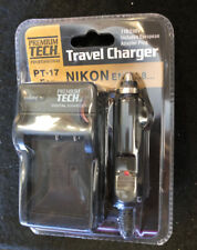 Premium Tech PT-17 Travel Charger for Nikon EN-EL8 with European Adapter Plug