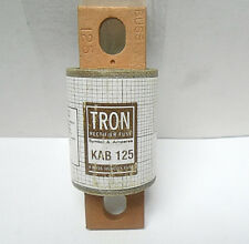 KAB-125 TRON BUSSMAN RECTIFIER FUSE CARTRIDGE 250 VOLTS/ 125 AMPS NEW OLD STOCK