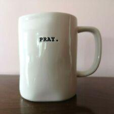 PRAY Mug Rae Dunn Artisan Collection Cup by Magenta 16 Oz Small Print Letters