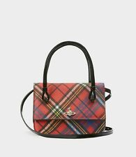 £350 NEW VIVIENNE WESTWOOD EDINBURGH Mc ANDREAS Tartan Check Cross Body Handbag