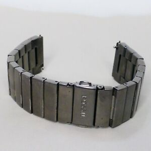 Fossil Rutherford replacement repair watch band carbon gunmetal gray FS5450