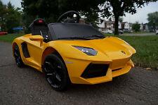 LAMBORGHINI AVENTADOR LP700 YELLOW Ride On Kids Electric Power Wheels Car RC