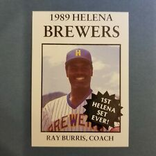 1989 Sports Pro HELENA Brewers #26 RAY BURRIS Duke OKLAHOMA Idabel COACH